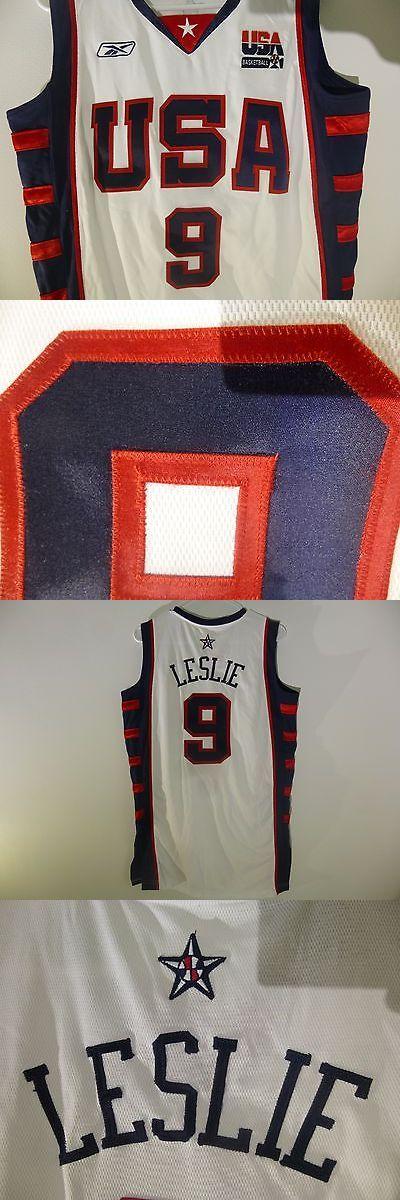 Basketball-WNBA 2851: Team Usa Basketball Jersey,Lisa Leslie,Size L Tall,Reebok, Sewn,2004,Wnba,White, -> BUY IT NOW ONLY: $60 on eBay!