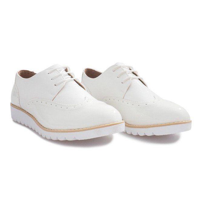 Shoes Women S Butymodne White Shoes Delphine Jazzowki Brown Shoes White Shoes Women Shoes