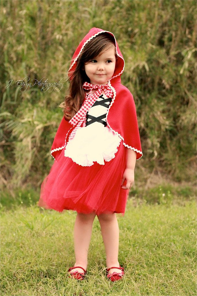 Little Red Riding hood DRESS tutu dress red gingham retro apron dress costume for girls and toddlers by loverdoversclothing on Etsy