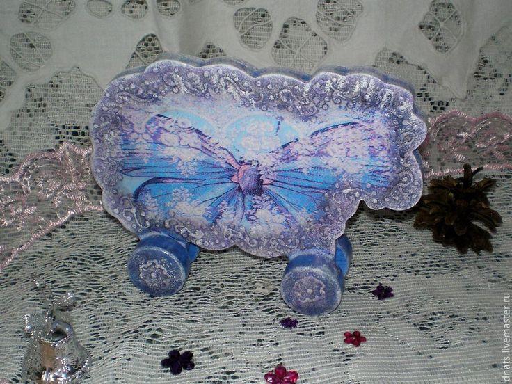 """Овечка деревянная """" Бабочка"""" - васильковый,овца,овцы,овечка игрушка,овечка в подарок"""