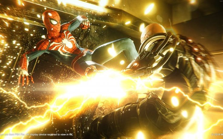 Wallpaper Spiderman, PS4, video game, fight Spiderman