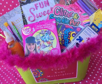 Easter Basket Ideas for Teen Girls | Easter Baskets for Teens | This colorful Easter basket will get your teen daughter's creative juices flowing! Fill an art ...