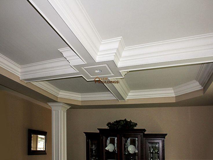 die besten 17 bilder zu coffered and waffle ceilings auf pinterest, Wohnzimmer dekoo