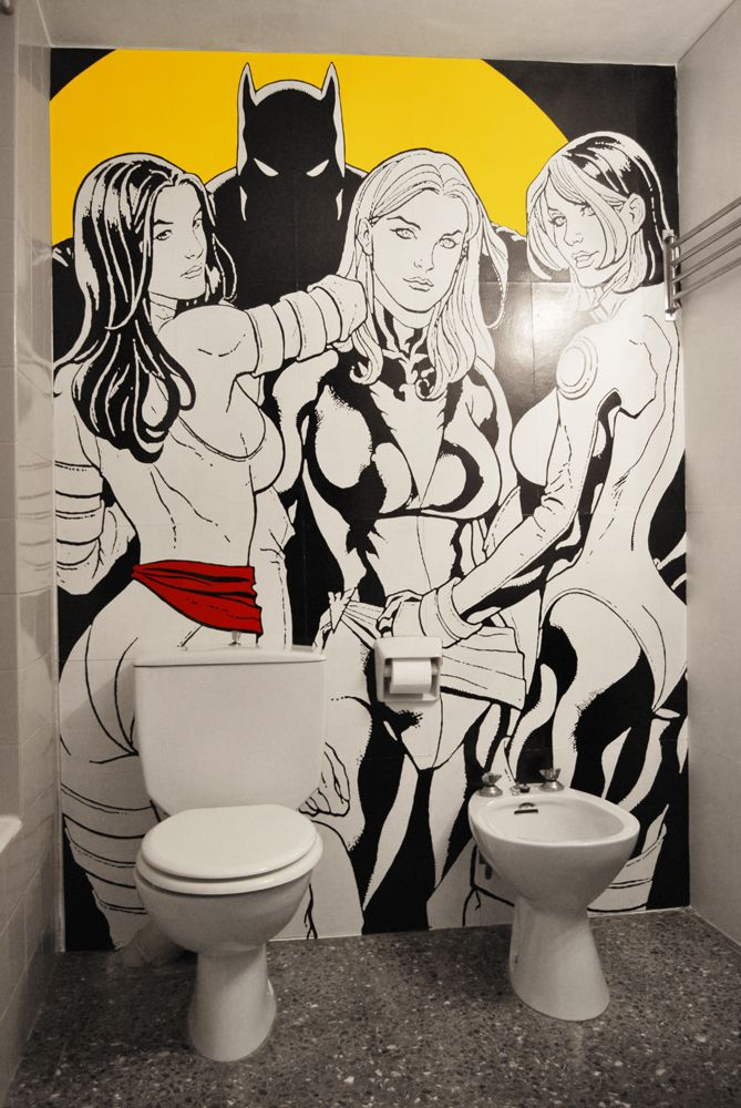 mural de comic para pared de wc #mural#comic#pared#wc#Frank#Cho#x#woman#girls#pop#pop art#art#frank#cho
