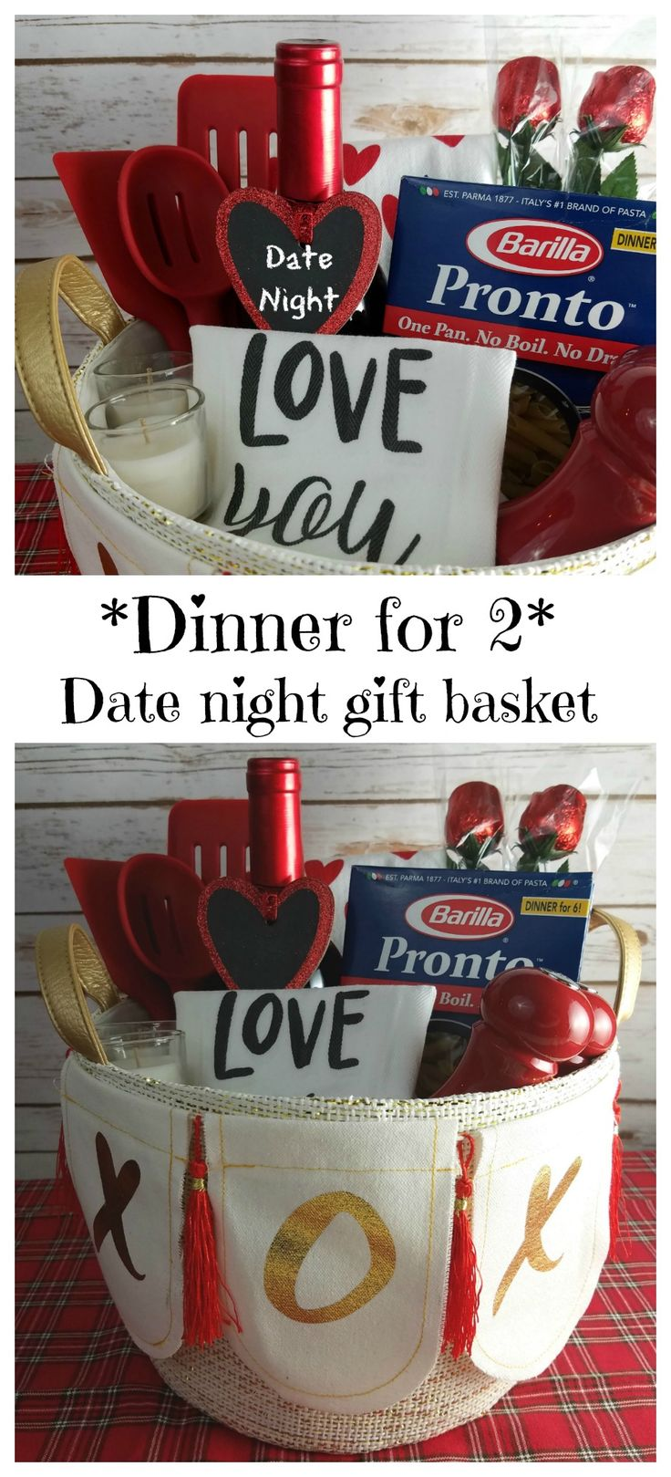 Msg 4 21+ - Valentine's Day date night gift basket and 'dinner for 2' pasta recipe #ad #WonderfulYourWay