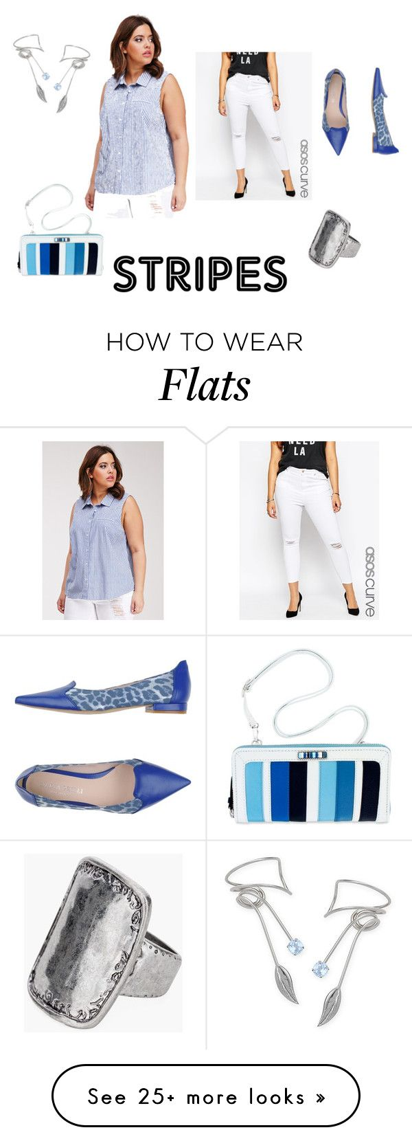 """""""Stripedy"""" by chunky-chick on Polyvore featuring Forever 21, ASOS Curve, Brighton, Nadia Grilli, Chico's and stripes"""