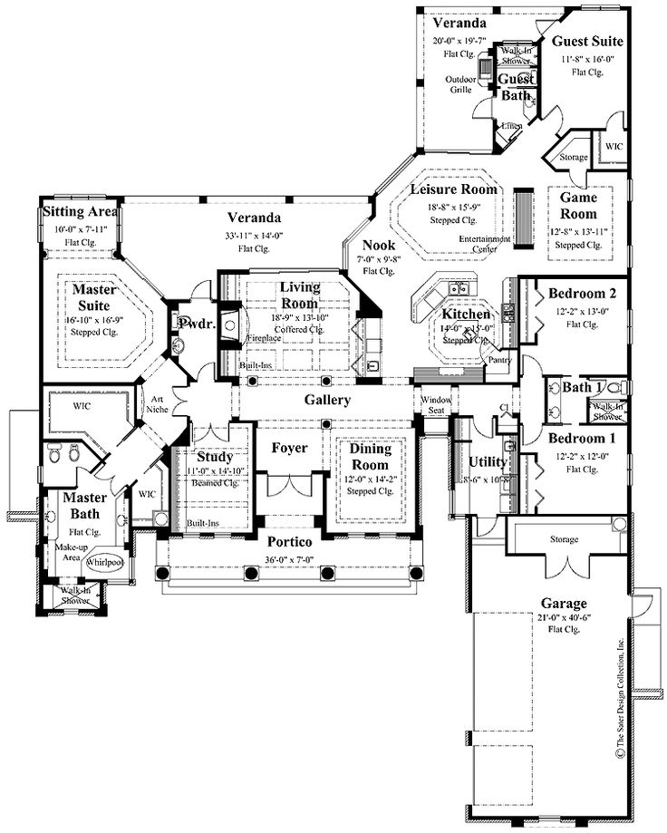 Charming house plans with lots of storage contemporary for House plans with lots of storage