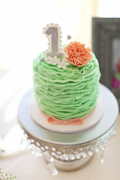 Shabby Chic Smash Cake By Frost It Cupcakery With Mint