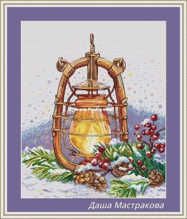 New Year Lamp By Daria Mastrakova Xsd Cross Stitch Communication