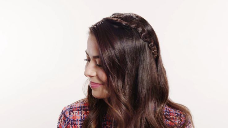 Halo Snake Braid with Miranda Cosgrove: Actress and singer Miranda Cosgrove rocks this cool twist on a traditional halo braid by celebrity hairstylist Sarah Potempa (Instagram @sarahpotempa).