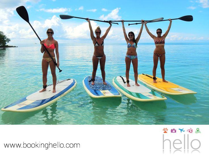 EL MEJOR ALL INCLUSIVE AL CARIBE. Durante tu próxima aventura al Caribe, en Booking Hello te recomendamos disfrutar de los deportes acuáticos con tus amigos. El paddle boarding es una forma de deslizarte y navegar en el mar, estando de pie y apoyándote de un remo; ejercicio y diversión en una sola actividad. Comienza a planear tu viaje para agregar más experiencias divertidas con tus amigos. #paquetesalcaribe
