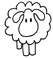 sheep outline printable - Google Search