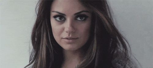 mila kunis gif. I could watch this all day and it doesn't make me a werido :)