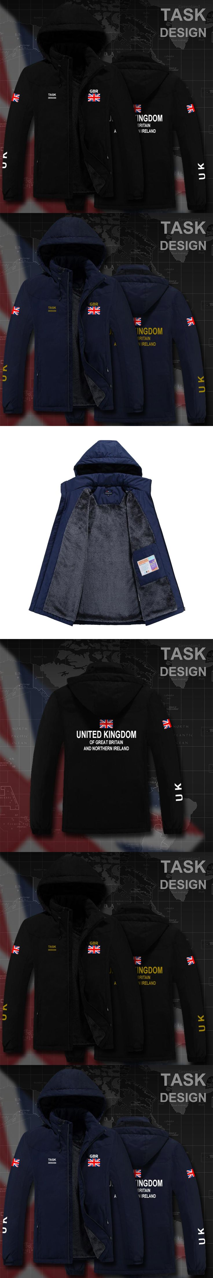 UK United Kingdom of Great Britain GB parka men winter jacket mens coat clothing fur hooded snow windbreaker bomber streetwear