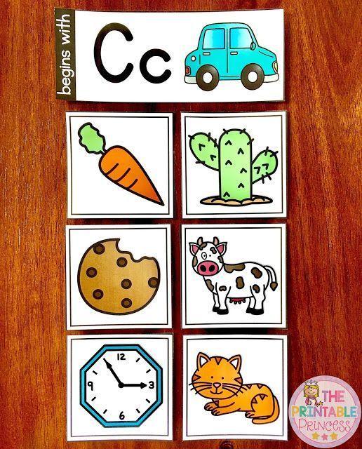 Beginning Sounds Activities, Games, and Centers for Kindergarten