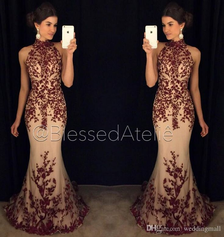 Sexy Lace 2016 Arabic Evening Dresses High Neck Beaded Mermaid Tulle Prom Dresses Luxurious Vintage Evening Gowns Knee Length Evening Dresses Ladies Dress Online From Weddingmall, $133.47| Dhgate.Com