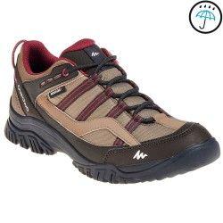 Zapatillas travesía mujer Arpenaz 100 impermeable marrón