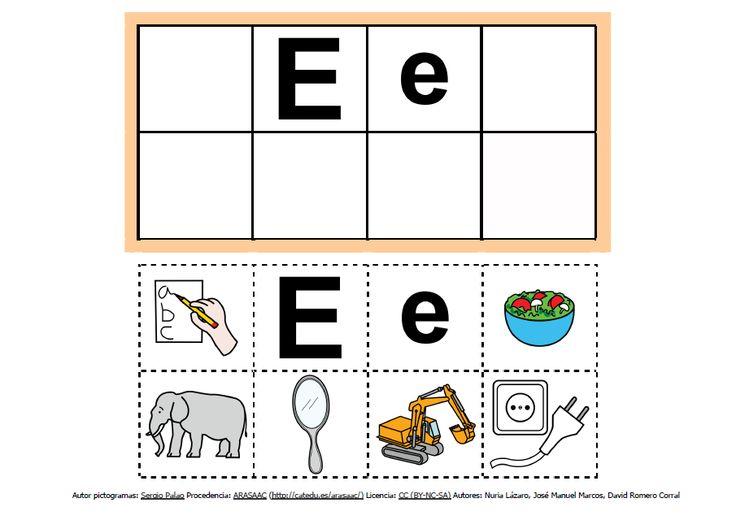 Abecedario con pictogramas: E http://informaticaparaeducacionespecial.blogspot.com.es/2013/09/abecedario-con-pictogramas-de-arasaac.html