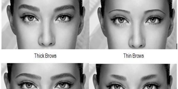 Different Eyebrow Shapes Change Your Face #slimmingbodyshapers  The key to positive body image go to slimmingbodyshapers.com  for plus size shapewear and bras