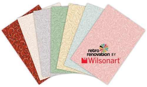 "Announcing 7 new boomerang laminates — ""Retro Renovation by Wilsonart"" — woot!"