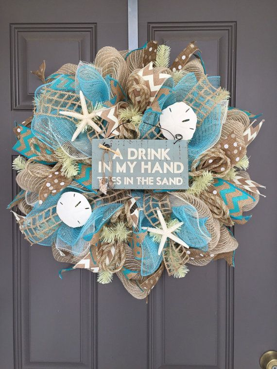 This wreath measures approximately 24x24x7 and will be shipped in a large box to keep it from getting damaged - however it will probably need some