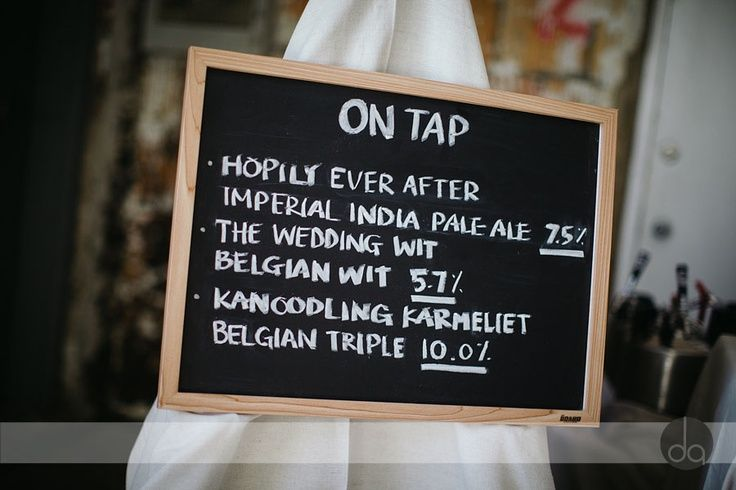 Wedding Craft Beer (I like this pic, but not many of the other ideas...I like letting people know what's on tap!)