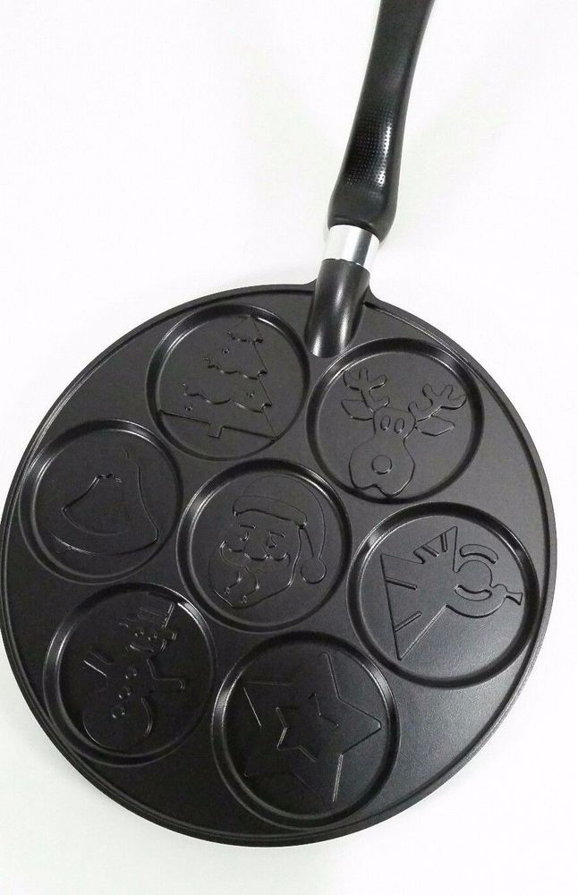 Nordic Ware Mini Pancake Stove Top Griddle 7 Christmas Holiday Designs USA Made #NordicWare