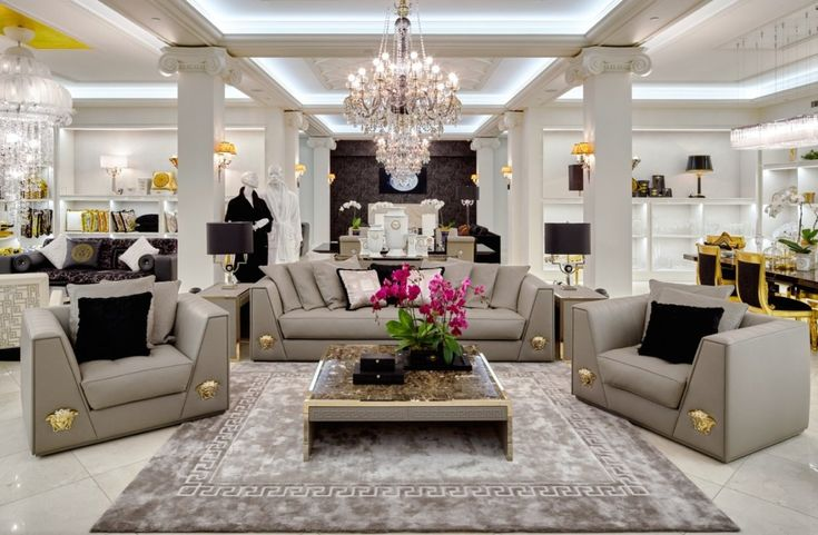 Versace Home Luxury Living Room Living Room Sofa Design Living Room Sets