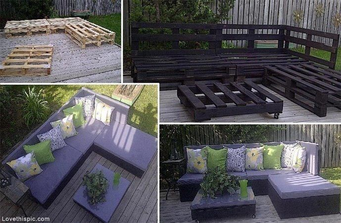 DIY Balcony Furniture (diy, furniture, home made, diy ideas, do it yourself projects, handmade diy furniture - http://dunway.info/pallets/index.html