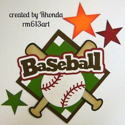 Béisbol Sport Boy juntar las piezas de papel título para páginas de álbumes de recortes por Rhonda rm613art