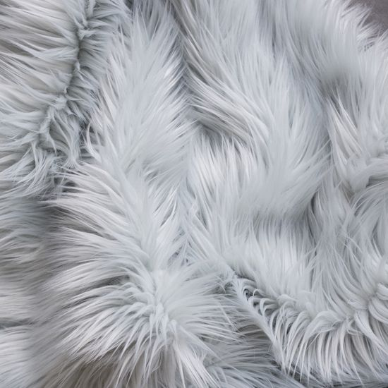 Faux Fur Throw - Light Blue SFFAU-004
