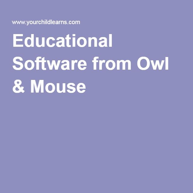 Educational Software from Owl & Mouse