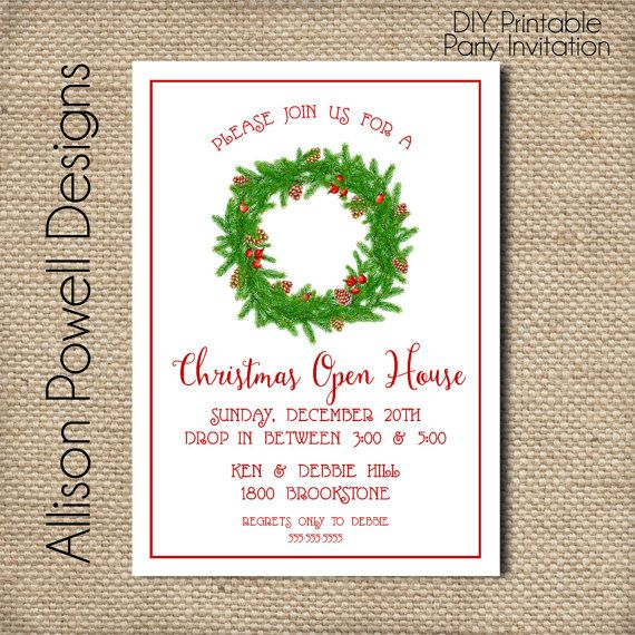 163 best Cards - Christmas Party images on Pinterest Natal - free christmas invitations printable template