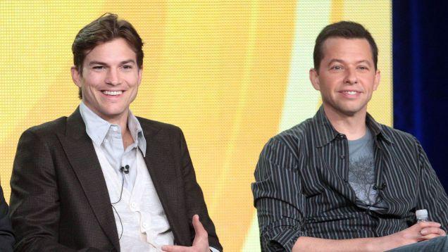 Ashton Kutcher and John Cryer