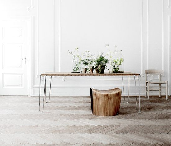 jokemijn: Roland Graf, Decor Ideas, Hairpin Legs, Design Ideas, Interiors Design, Fredericia Furniture, Jim Tables, Herringbone Floors, Slim Jim