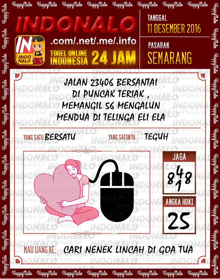 Lotre Kop 4D Togel Wap Online Live Draw 4D Indonalo Semarang 11 Desember 2016