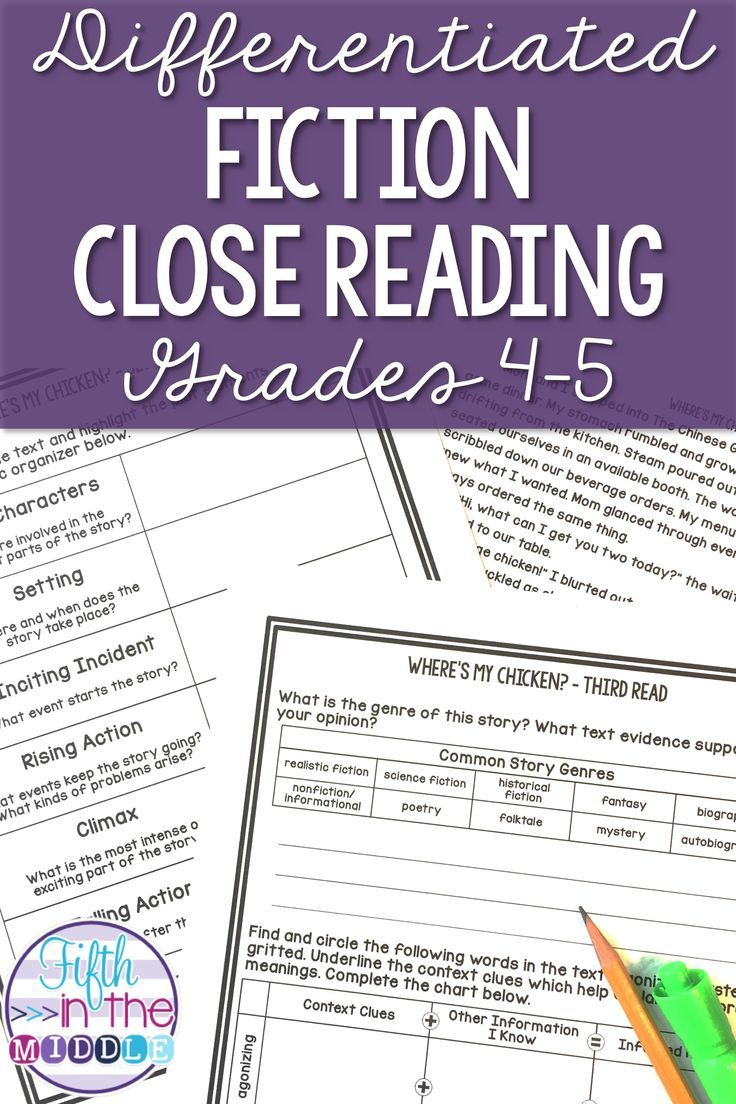 Differentiated Fiction Close Reading Grades 4 5 Reading Comprehension Worksheets Close Reading Comprehension Close Reading [ 1104 x 736 Pixel ]