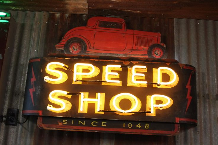 If I ever start an automotive shop, 'Speed Shop' will be in its name.