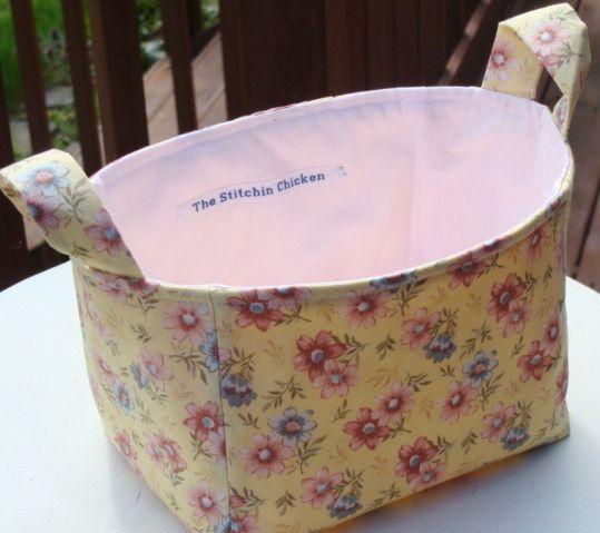 Tutoriel: Bucket / panier en tissu