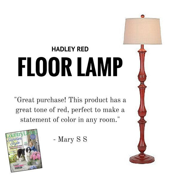 The 25 best red floor lamp ideas on pinterest floor lamp shades be daring this season with our hadley red floor lamp featured in country livings june aloadofball Images