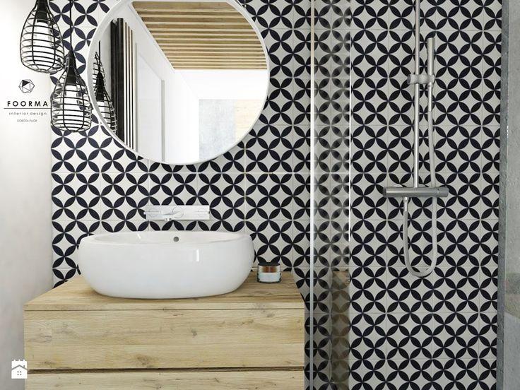Łazienka - Mała łazienka w bloku, styl vintage - zdjęcie od FOORMA Pracownia Architektury Wnętrz