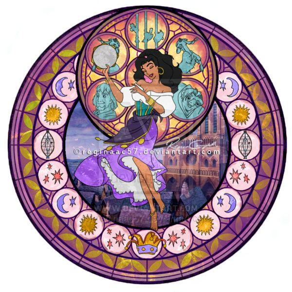 Esmeralda - Kingdom Hearts Stain Glass by ~reginaac57 on deviantART