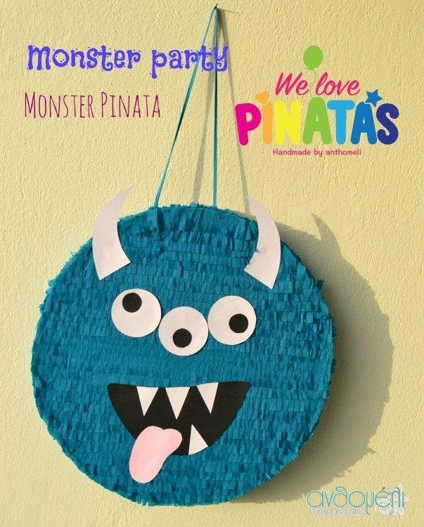 πινιάτα τερατάκι, pinata monster, Πινιάτες οι αγαπημένες! (updated!) - Anthomeli