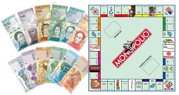 ¡JUEGO DE MONOPOLIO! Más billetes invisibles de 5.000 para desincorporar el renegado papelito de 100