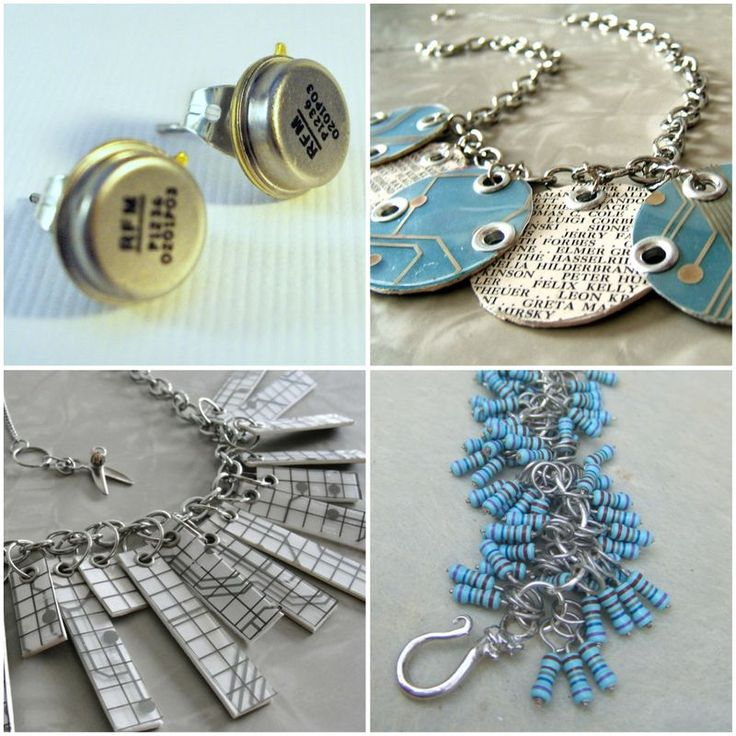 recycled, upcycled, circuit board, computer parts, earring, bracelet, necklace, earth friendly, green wedding, geek chic, computers, weddings