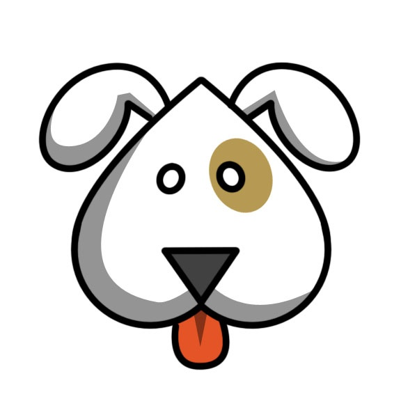 Cartoon dog, Cu... Easy Dog Face Drawing