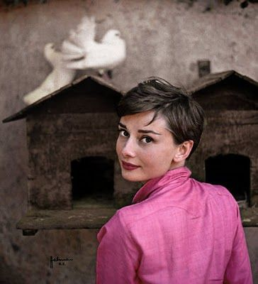 Halsman Philippe Audrey Hepburn | Italia, Audrey Hepburn posando para LIFE magazine, 1955)