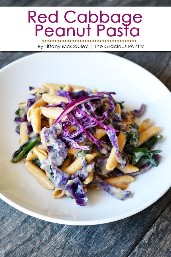 Red Cabbage Pasta Recipe The Gracious Pantry Recipe Clean Eating Vegetarian Recipes Pasta Recipes Recipes