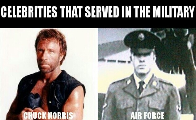 Chuck Norris..Air Force | Famous Celebrities in Military ...