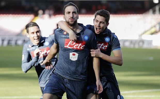 Higuain firma il primo gol contro la Roma | © Roberto Salomone - Campania su Web
